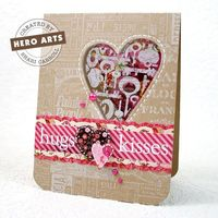 Pop on over to the Hero Arts website where Shari Carroll has a video and step by step instructions for making this lovely window card. And while you're there yo