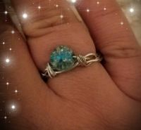 Adjustable Crystal Ball Ring $6.00