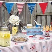 Celebrate summer with a fun filled easy going backyard bbq complete with easy decorations, affordable recipes and DIY backyard party ideas.
