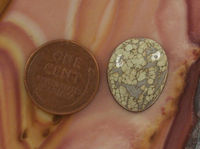 Loose Variscite Cabochon Jewelry Gemstone | 8 cts | Silver Peak Nevada $8.00