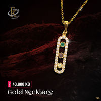You'll love to top off your look with this regal piece of Gold Necklace. �–� Product type: Gold Necklace  �–� Price: 43.000KD �–� Weight: 2.040 Grams �–� Free Delivery �–� Karat: 18 Karat �–� Part Number: FK...