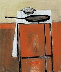 William Scott. Still Life with Frying Pan. 1954
