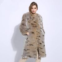 Stylish One size natural fox fur Pullover Winter Coat $784.99