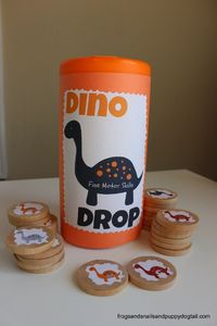 Today on Play, Craft, and Learn with Dinosaurs is all about Fine Motor Skills. I set out to make a simple, yet fun activity that all my kids could enjoy. They a