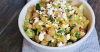 Chickpea and Brussels Sprouts Salad