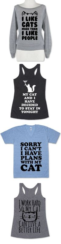 The perfect cat shirt collection for every Cat Lady.