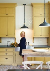 mustard yellow kitchen cabinets