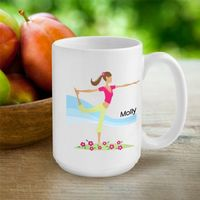 "Give her a nod of approval and a ""job well done"" when you reward her with our contemporary ""Go-Girl"" personalized coffee mug, the perfect gift for your favorite active female. Whether she's a super swimmer, a great golfer, or a d..."