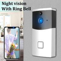 Smart Wireless Doorbell Visiable Camera Night Vision PIR Home Intercom + Receiver