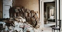 Abandoned library Napoli. �€œBooks Napoli was taken in an abandoned Palazza in Italy�€� every room was beautiful but this forgotten �€˜library' added an extra surreal quality. The fact that the books had blocked off a doo...