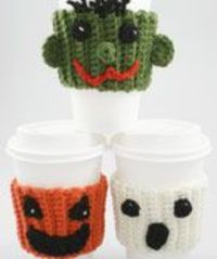 WM1048 Crochet Halloween Coffee Buddies