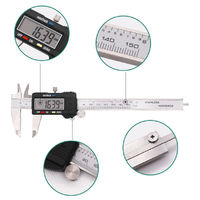0-150MM Electronic Digital Caliper with Extra Large LCD Screen 0 - 6 Inches Inch/Fractions/Millimeter Conversion