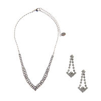 Mini Arrow Stone Necklace and Earrings Set