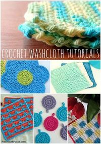 Free Crochet Washcloth Patterns submitted to InspirationDIY.com