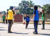 In school sports	