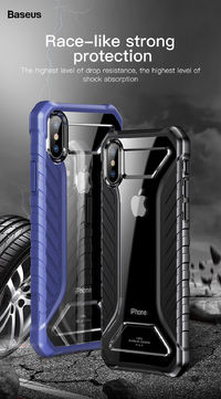 Baseus Shockproof Dropproof Protective Case For iPhone XS Max Hybrid PC TPU Back Cover