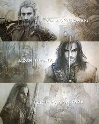 Fili, Kili & Thorin - from the credits of The Battle of the five Armies. I saw the film today and it was perfect