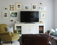 we have a similar tv set up, and i never know how to decorate around it! till NOW! Thanks Cluck Cluck Sew bloglady!