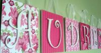 Scrapbook paper, canvas and letters.