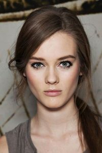 Bold lashes, rosy cheeks and nude lips #beauty #makeup