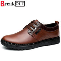 Break Out Men Shoes for Men Formal Shoes Genuine Leather Business Dress Shoes Breathable Spring Summer Men Oxfords $60.01