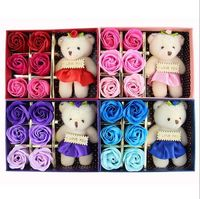 6 Piece Gift Set with Rose Soap and a Bear $13.47