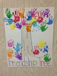 Preschool Handprint Friendship Tree