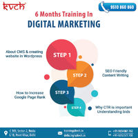 Learn online from professional faculty and leading industry experts. Strong hand-holding with dedicated support to help you master digital marketing. Advance your best Digital Marketing training in delhi, skills with great courses that teach you digital m...