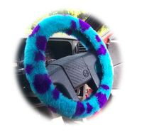 Dino spot faux fur fuzzy steering wheel cover