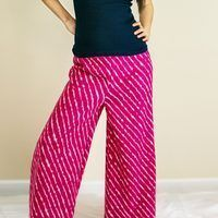 Palazzo pants, also known as wide-leg or gaucho pants, flare directly from the hip, and are mainly worn by women. They were made popular in the '70s, but are st