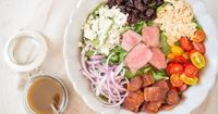 A simple and amazing Steak Salad with Balsamic Vinaigrette