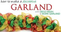 Christmas Mesh Wreath Ideas | Party Ideas by Mardi Gras Outlet: Christmas Deco Mesh Garland : A ...