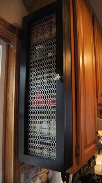 Running out of space inside your cabinets for your spices? How about build a spice cabinet that mounts on the end of your existing kitchen cabinet? I'll show yo