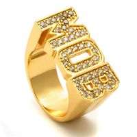 Real 18K Gold Plated Chunky Iced Out MOB Money Over Bitches Swagger Hip Hop Bling Ring £18.78