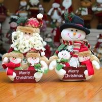 Cute Christmas Dolls in two versions wishing you a Merry Christmas