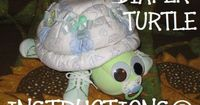 turtle diaper cakes   How to make a TURTLE from DIAPERS Instructions for diaper cake