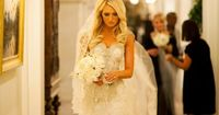 Dress shape and cut i like, skirt unknown. PW e d d i n g s / White and cream peonies. Bouquet. Pnina Tornai dress. Christian Oth. on we heart it / visual bookmark #34428078