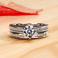 Gullei.com Popular Designer 0.8 Carat Diamond Engraved Wedding Ring for Her