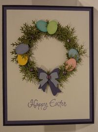 Easter Wreath Card by candee porter - Cards and Paper Crafts at Splitcoaststampers