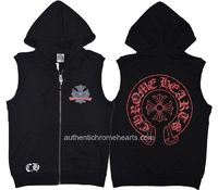 f41ec78d003 Red Signature Cross Horseshoes Hoodie Black Chrome Hearts Vest