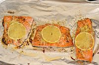 Lemon Parmesan Salmon - 6 ingredients and ready in under 20 minutes