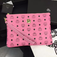 MCM Medium Color Visetos iPad Clutch In Pink