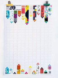 Perpetual Yearly Wall Planner by Sam Osborne, via Behance (Each ribbon could be representative of an event, but they'd be different lengths and in different places depending on the period each event is happening)