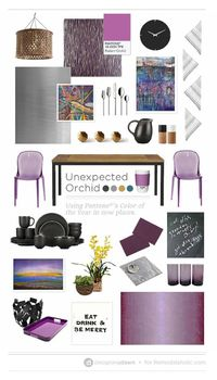 Unexpected Orchid - DesigningDawn for Remodelaholic.com | Tips for Using Purples in the Kitchen and Dining Room #orchid #purple #color #design