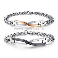 Gullei.com Custom Engraved Love Bracelets Christmas Gift Set for Couples