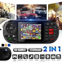 84 Games In 1 Handheld Game Console Dual Cards Standby Game Phone LCD MP3 FM Radio Video Playback Cell Phones