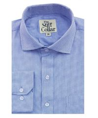 Blue Houndstooth 2 Ply Regular Fit Premium Cotton Shirt �'�1999.00