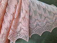 Ravelry: wavy leaves and butterflies shawl pattern by Athanasia Andritsou