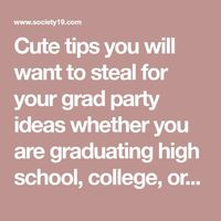 Cute tips you will want to steal for your grad party ideas whether you are graduating high school, college, or even middle school! These unique grad party ideas