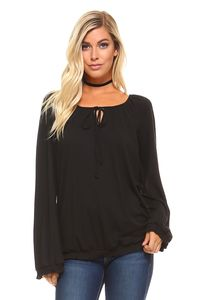 Women's Long Sleeve Solid Peasant Top $21.60